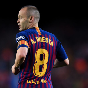BARCELONA, SPAIN - MAY 20:  Andres Iniesta of FC Barcelona looks on during the La Liga match between Barcelona and Real Sociedad at Camp Nou on May 20, 2018 in Barcelona, Spain.  (Photo by David Ramos/Getty Images)
